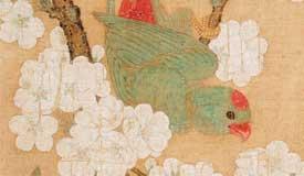 千年丹青 国宝再现:宋代《梨花鹦鹉图》