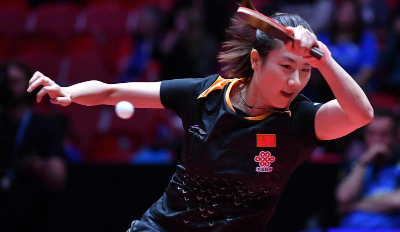 世乒赛:中国女队3-0瑞典 5战全胜晋级八强