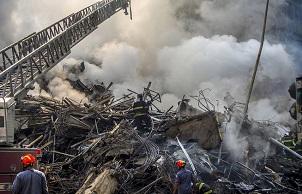 巴西圣保罗发生火灾致一座高楼坍塌